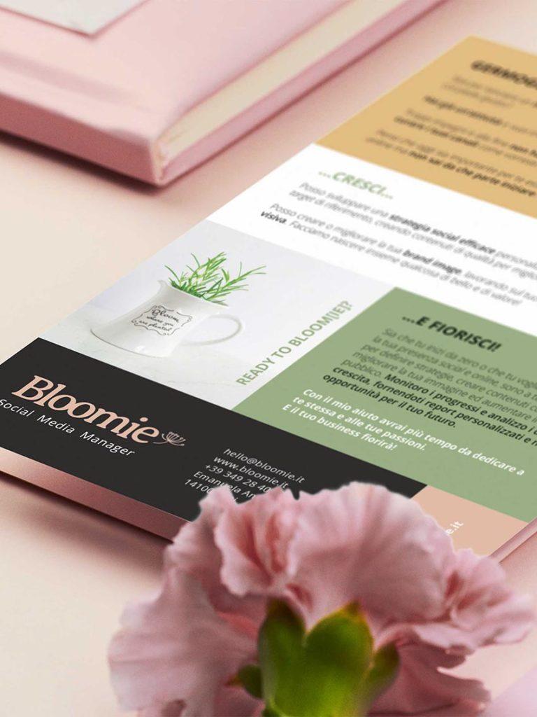 Mock up brochure - bloomie | asti