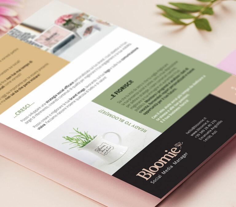 brochure comunicazione visiva bloomie asti