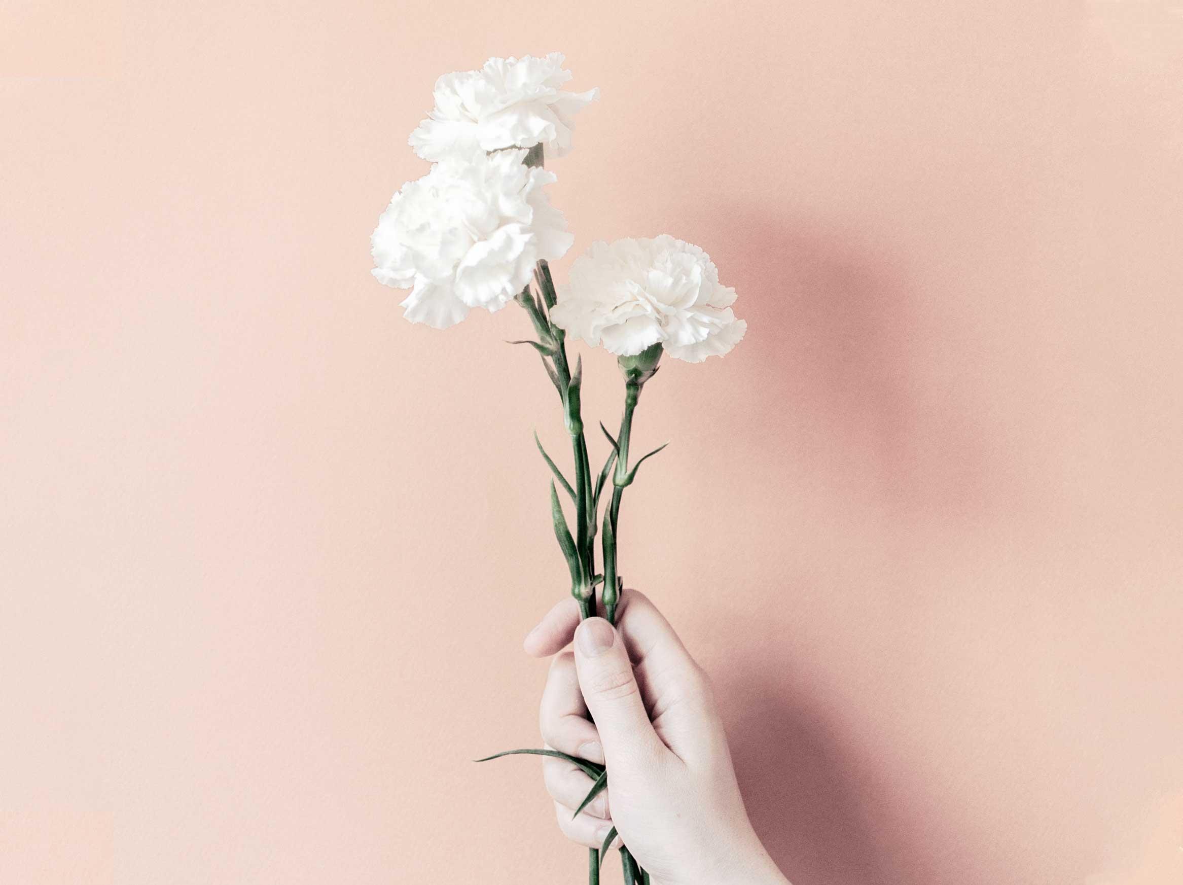 mano con mazzo di fiori consulenze social business bloomie asti