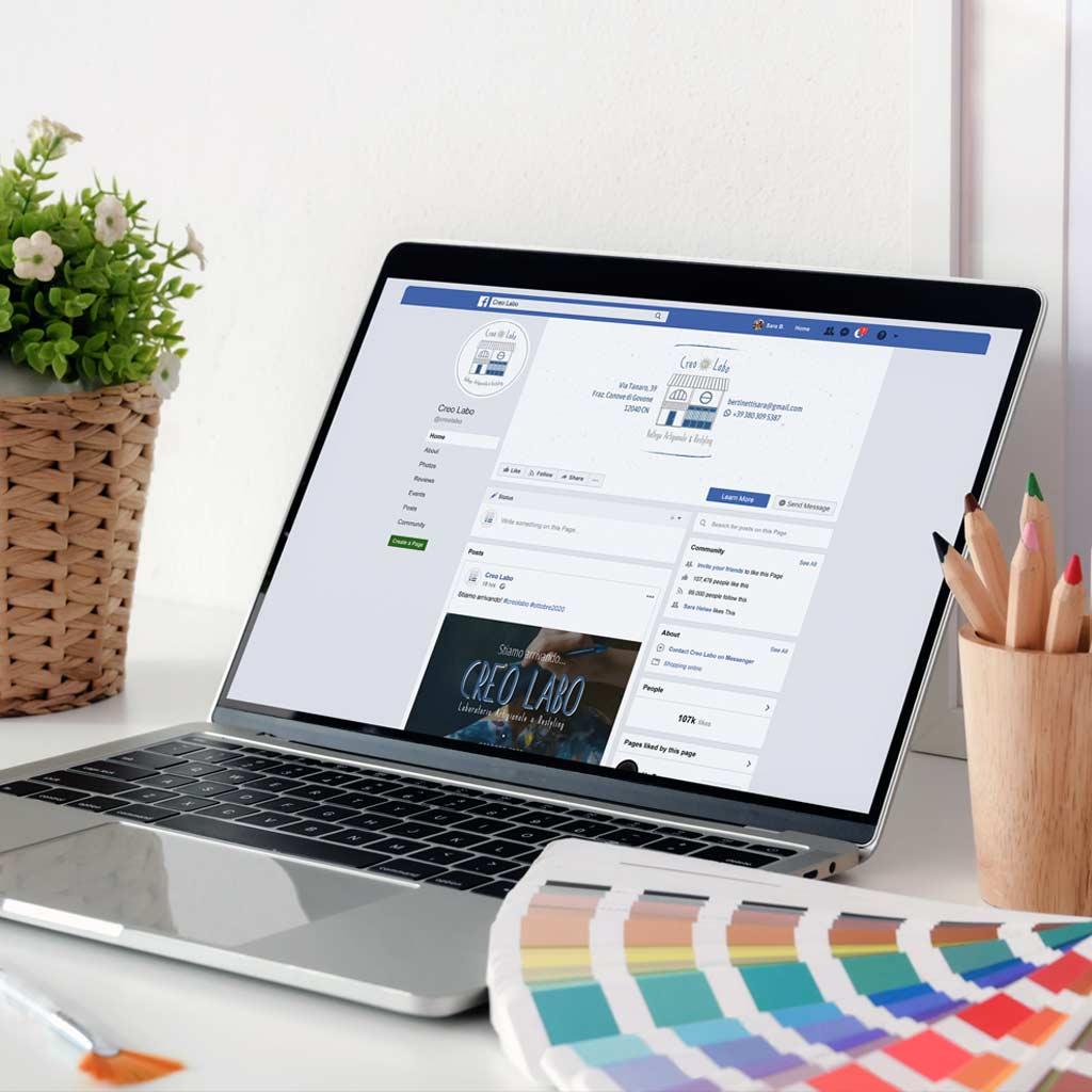 pagina fb creo labo portfolio bloomie asti